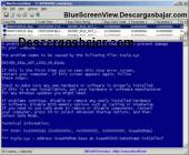 BlueScreenView 1.50 captura de pantalla
