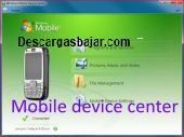 Mobile device center windows 6.9 captura de pantalla