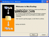 MozBackup Portable 1.5.1 captura de pantalla