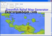 Greenfish Relief Map Generator 1.4 captura de pantalla