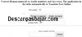 Traductor de numeros romanos Arabigos 2.0 captura de pantalla