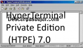 HyperTerminal Private Edition HTPE 7.0 captura de pantalla