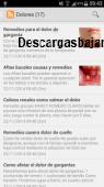 Remedios naturales Android 2.0 captura de pantalla