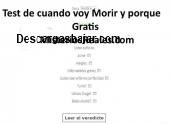Test de cuando voy Morir y porque gratis 2.80 captura de pantalla