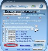 LangOver windows 5.7.00 captura de pantalla