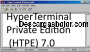 HyperTerminal Private Edition HTPE 7.0 captura de pantalla